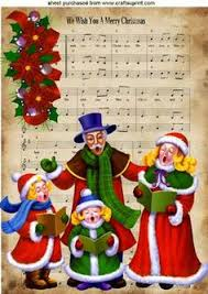 christmas carols public domain vintage images pinterest