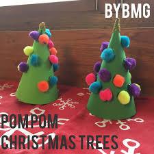 Pom Trees Bybmg Kids Pom Pom Christmas Tree
