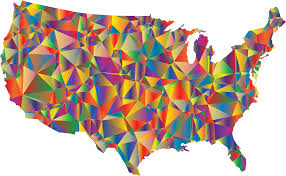 United States Maps by Clipart Low Poly United States Map