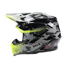 motocross crash helmets bell new 2017 mx moto 9 dirt bike moto 9 grey yellow camo