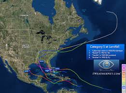 Show Map Of The United States by Category 5 Hurricanes In The Atlantic Basin Interesting