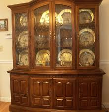 Ethan Allen Corner Cabinet by Ethan Allen Classic Manor China Cabinet Ebth
