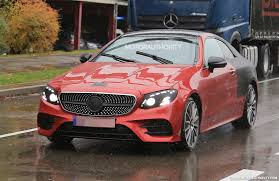 pink mercedes 2018 mercedes benz e class coupe spy shots and video