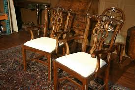 Chippendale Dining Room Set Chippendale Solid Mahogany Straight Leg Dining Room Chairs Sullevin