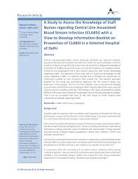 infection chambre implantable a study to assess the knowledge of staff pdf available