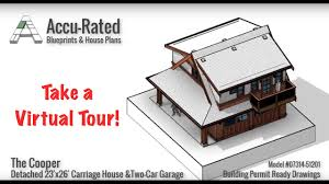 Carriage House Building Plans Accu Rated Blueprints U0026 House Plans Cooper Garage U0026 Carriage