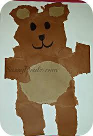 teddy bear tear kid u0027s craft cheap u0026 easy no scissors required