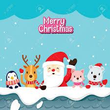 imagenes de santa claus feliz navidad santa claus y animales en la azotea feliz navidad navidad feliz