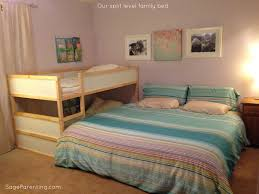 our split level family bed cosleeping ikea bed hack pinterest