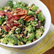 bacon sunflower seeds broccoli salad with sunflower seeds