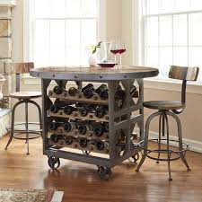 pub table with wine rack repurposed industrial wine storage pub table with 2 stools wine