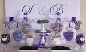 Wedding Candy Table Elegant Purple Wedding Candy Tables Topup Wedding Ideas