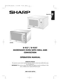 sharp r937 oven manual oven grilling
