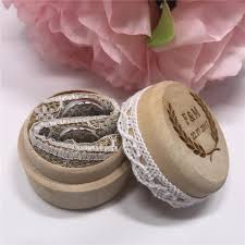 wedding ring holder personalized rustic ring bearer box custom wedding ring holder