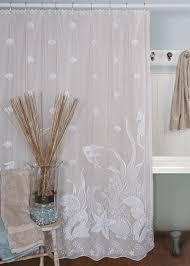 Themed Fabric Shower Curtains Seascape Fabric Shower Curtain By Heritage Lace Bathroom