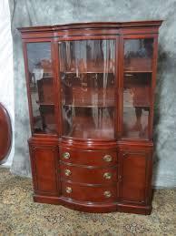 amazing antique drexel oversized bowfront china cabinet breakfront