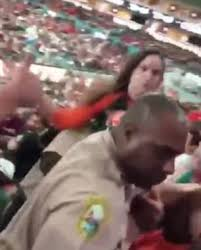 miami fan slaps officer video shows miami police officer punching an unruly fan daily mail