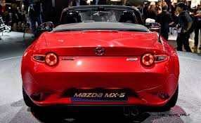 mazda roadster update2 2016 mazda mx 5 roadster paris debut photos