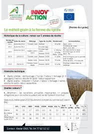 chambre d agriculture 08 retour sur innov 2016 les méteils dans la loire