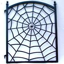 steel spider web ornamental iron fence gate metal