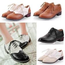 ugg womens oxford shoes wingtip brogues preppy lace up womens low heels oxford