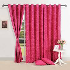 Swayam White N Pink Floral Window Curtains Pink Magnificience Window Curtains Home