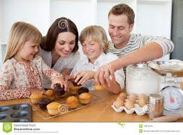 loving family their muffins stock photo image 12813440