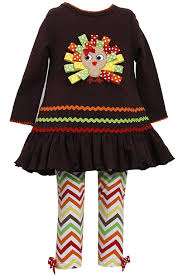 amazon com bonnie jean little girls thanksgiving brown ribbon