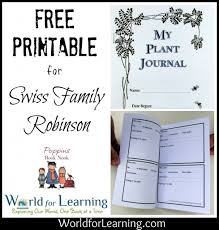 free printable plant journal world for learning
