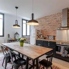 cuisine style loft esprit loft avec murs de briques apparentes kitchens interiors