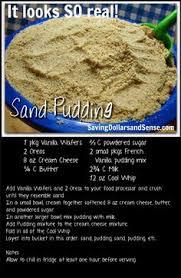 edible sand sand pudding edible sand sooo had this at the 4th of july