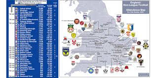 Bath England Map by Non League Football In England Attendance Map For October 2008