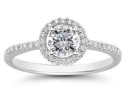 circle engagement ring 3 4 carat diamond circle halo ring in 14k white gold