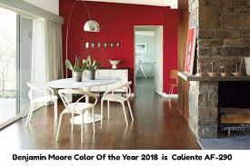 benjamin moore color of the year for 2018 is caliente af 290