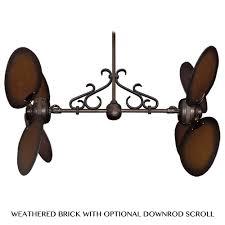 dual fan ceiling fan twin star iii dual motor ceiling fan by gulf coast fans distressed