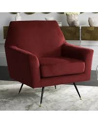 Retro Accent Chair Bargains On Safavieh Nynette Velvet Retro Mid Century Accent Chair