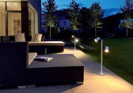exceptional led outdoor lighting ideas for modern garden design