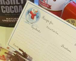 christmas recipe cards printable recipe cards holiday recipe