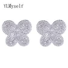 brinco zirconia 2018 animal earring new trendy butterfly sweet brinco