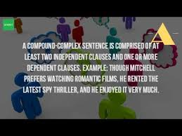 what is an example of a compound complex sentence youtube