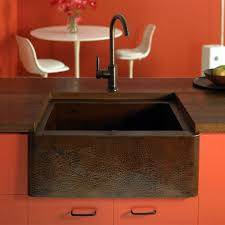 decor copper prep sink with copper grid for amusing kitchen