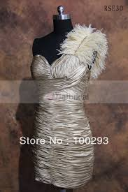rse30 one shoulder feather formal cocktail dresses for christmas