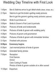 wedding ceremony timeline wedding timeline master schedule adjust accordingly for earlier