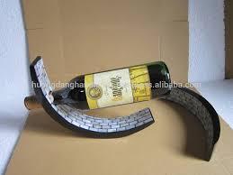 eggshell lacquered wine bottle holder balance wine holder handmade