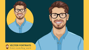 illustrator tutorial vectorize image draw vector cartoon portrait in illustrator from scratch vector