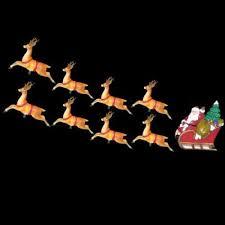 10 light santa sleigh and eight reindeer light set and