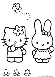 drawings paint u0026 colour kitty print design 006