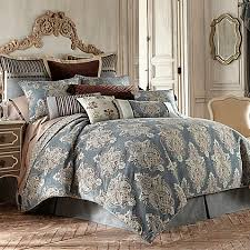 waterford linens hilliard reversible duvet cover in aquamarine