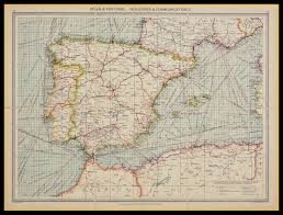 Map Of Spain by Old Map Of Spain U0026 Portugal Circa 1900