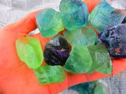 fluorite ornaments malachite green color